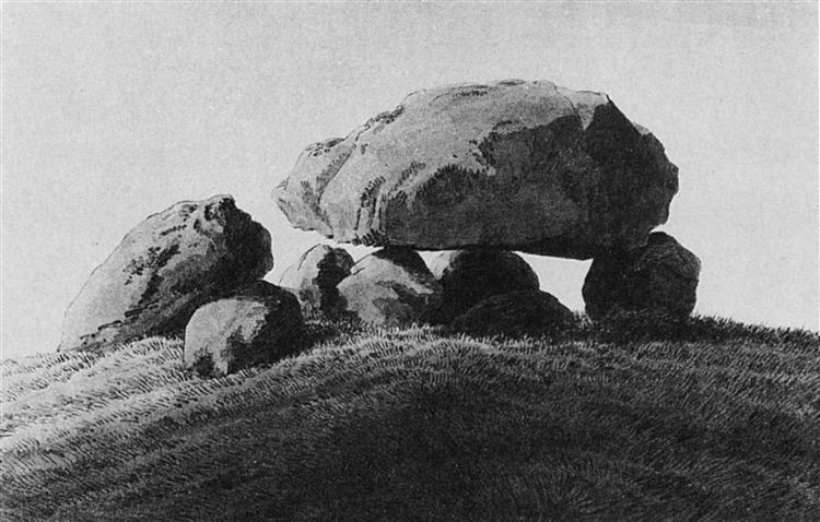 Megalithic grave, c.1837 - Caspar David Friedrich