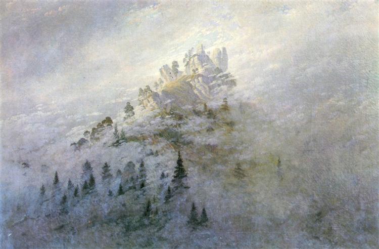 Morning mist in the mountains, 1808 - Caspar David Friedrich