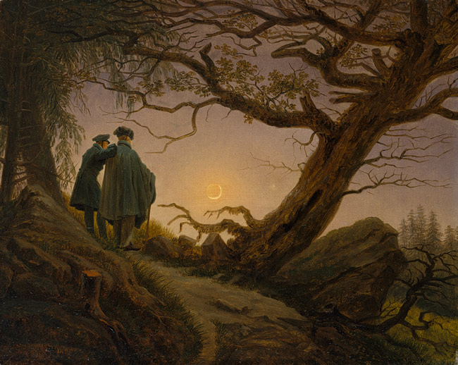 Two Men Contemplating the Moon, c.1825 - c.1830 - Caspar David Friedrich