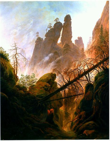 Rocky Ravine, 1823 - Caspar David Friedrich