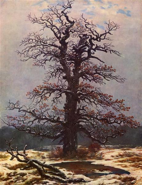 Oak tree in the snow, c.1827 - c.1828 - Caspar David Friedrich