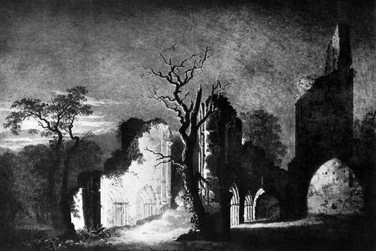 West facade of the ruins of Eldena - Caspar David Friedrich