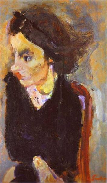 Woman in Profile (Portrait of Madame Tennent), c.1937 - Chaïm Soutine