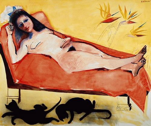 Reclining Nude - Charles Blackman