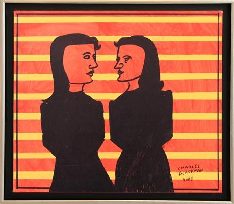 Two Women, 2008 - Charles Blackman