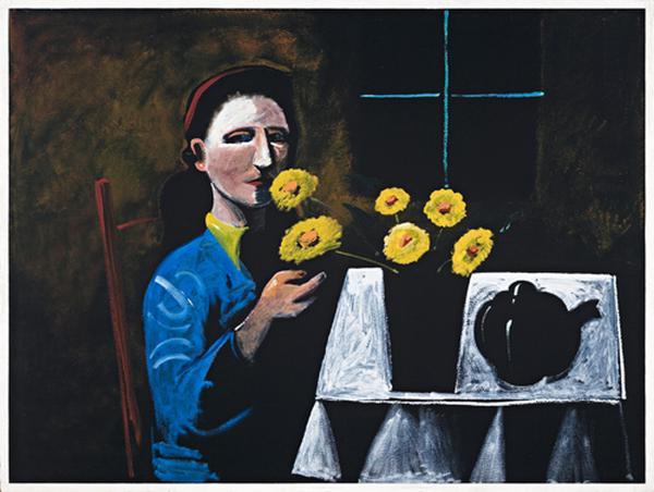 Yellow Reflections, 1972 - Charles Blackman