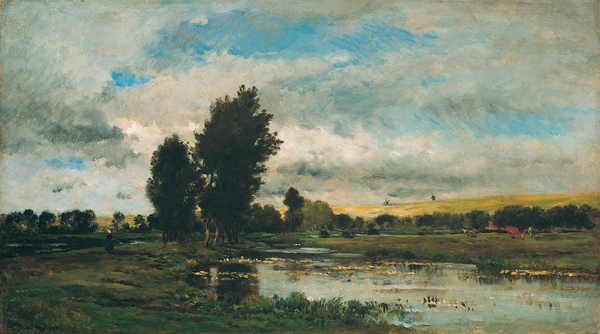 French River Scene, 1871 - Шарль-Франсуа Добиньї