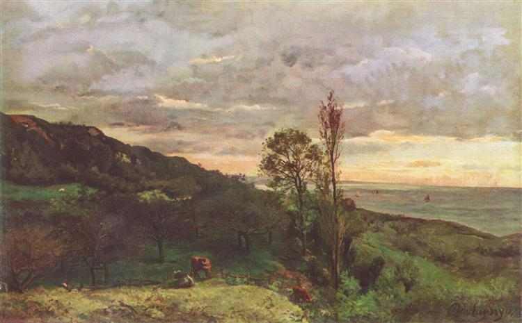 Landscape near Villerville, 1873 - Charles-Francois Daubigny