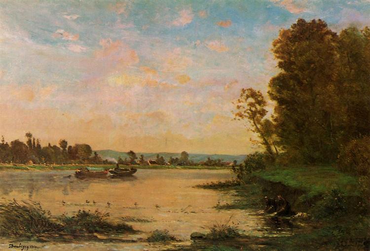 Summer Morning on the Oise, 1869 - Charles-François Daubigny