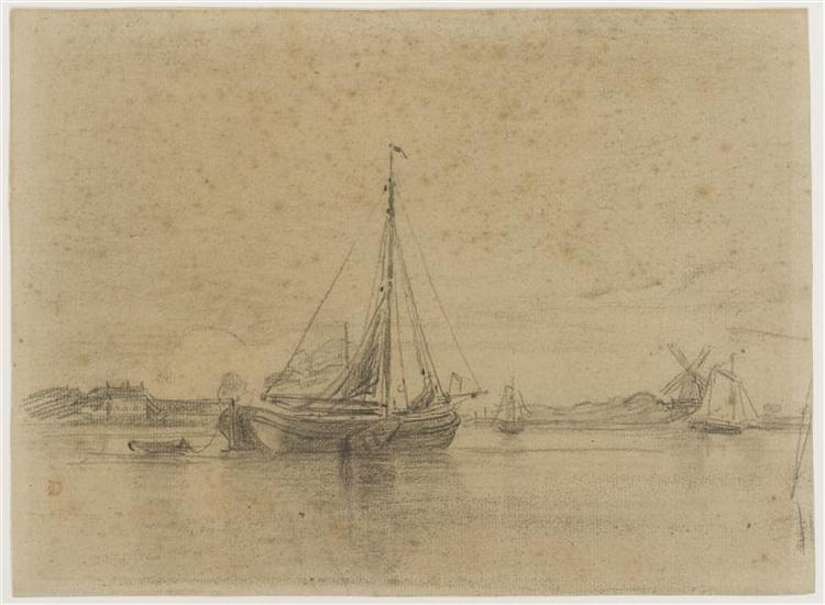The channel in Hollang - Charles-Francois Daubigny