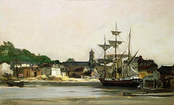 The Harbour at Honfleur - Charles-Francois Daubigny