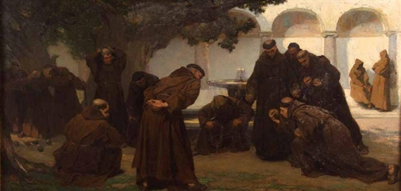 Monks Playing Bowls, 1867 - Charles Hermans