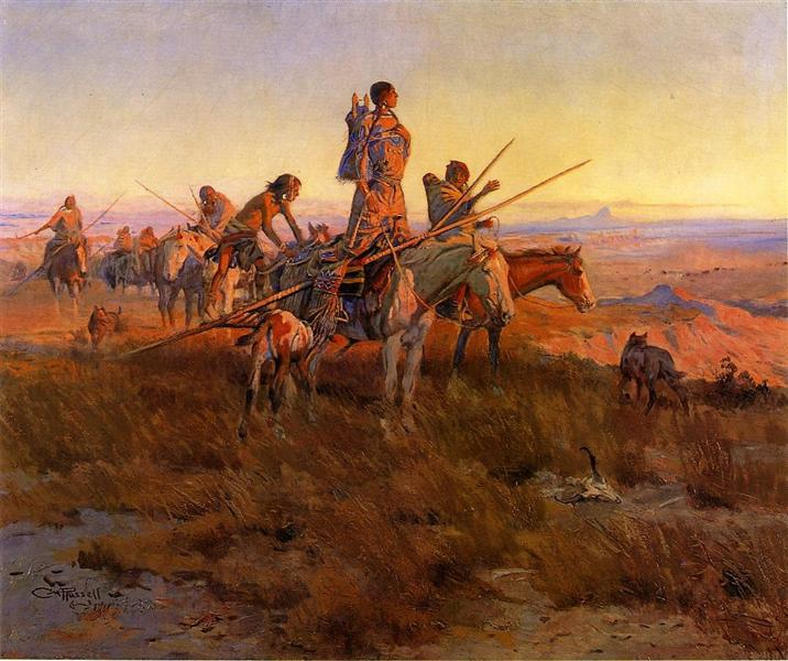 In the Wake of the Buffalo Hunters, 1911 - Charles M. Russell