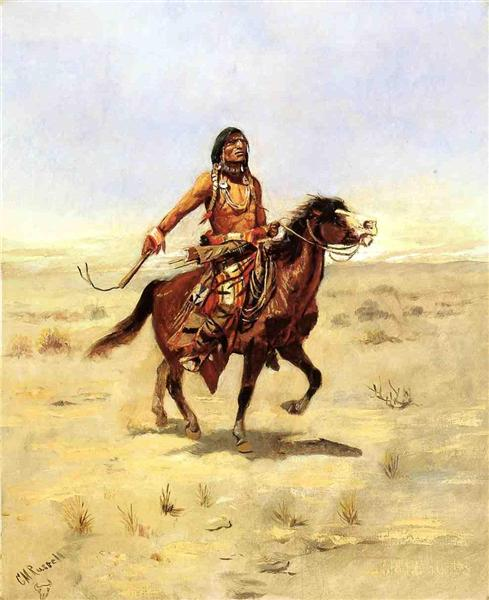 Indian Rider - Charles M. Russell