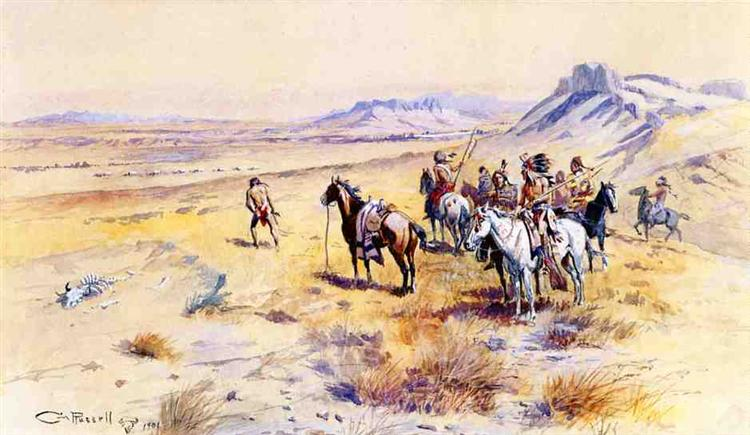 Indian War Party, 1901 - Charles M. Russell