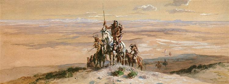 Indian War Party, 1903 - Charles Marion Russell