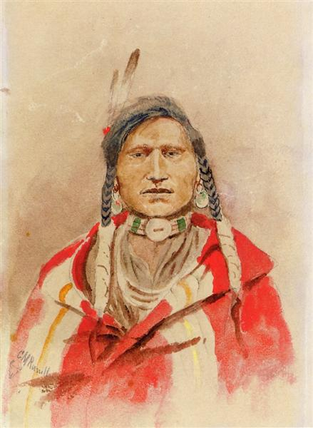 Portrait of an Indian - Charles M. Russell