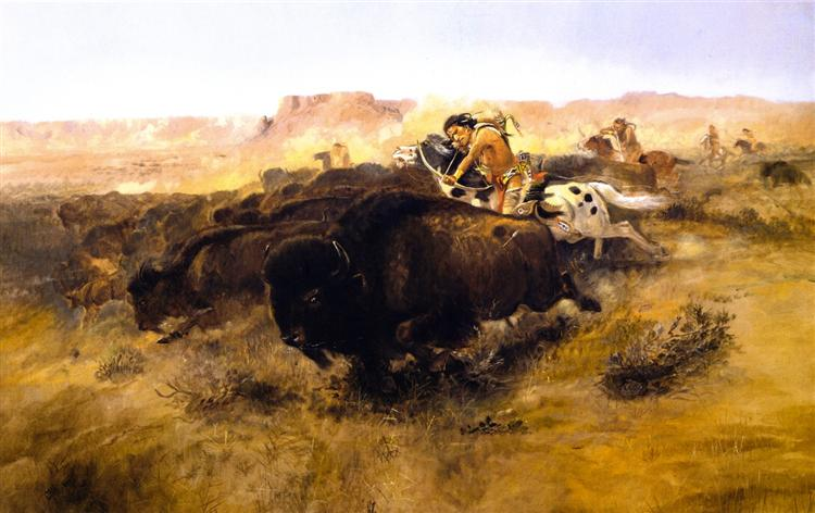 The Buffalo Hunt, 1895 - Charles M. Russell