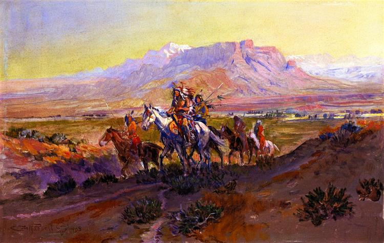 The Forked Trail, 1903 - Charles Marion Russell