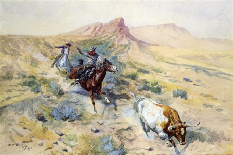 The Herd Quitter, 1902 - Charles M. Russell