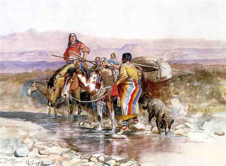 Thirsty, 1898 - Charles M. Russell