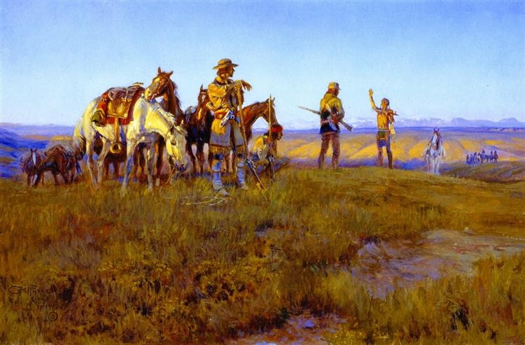 Wild Man's Truce, 1914 - Charles M. Russell