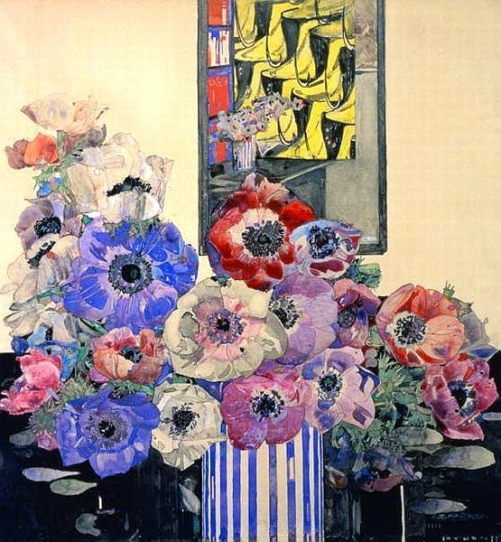 Still Life Of Anemones - Charles Rennie Mackintosh