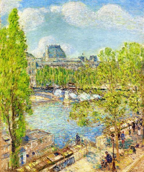 April, Quai Voltaire, Paris, 1897 - Childe Hassam