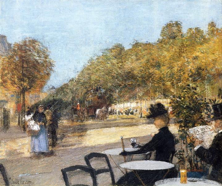 At the Café, 1887 - 1889 - Childe Hassam
