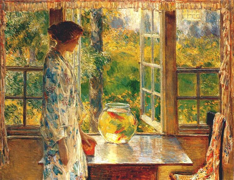 Bowl of Goldfish, 1912 - Childe Hassam