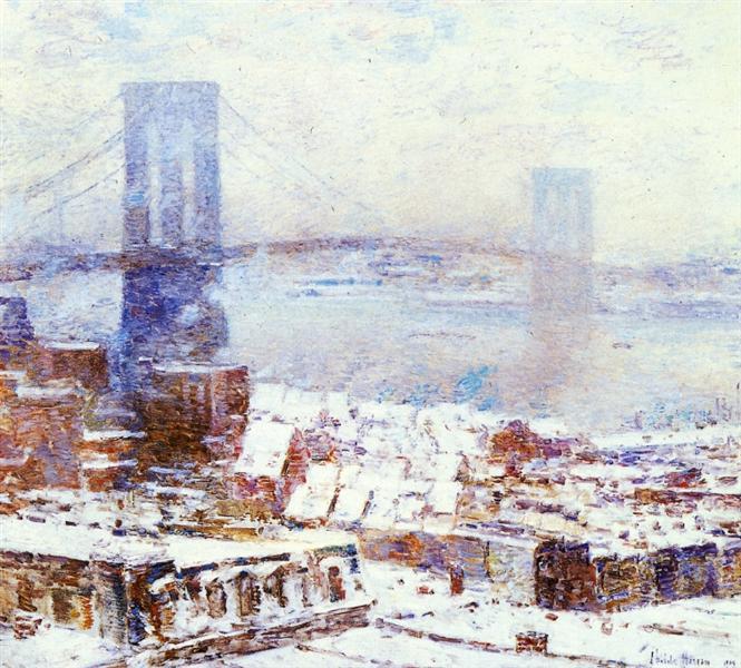 Brooklyn Bridge in Winter, 1904 - Childe Hassam