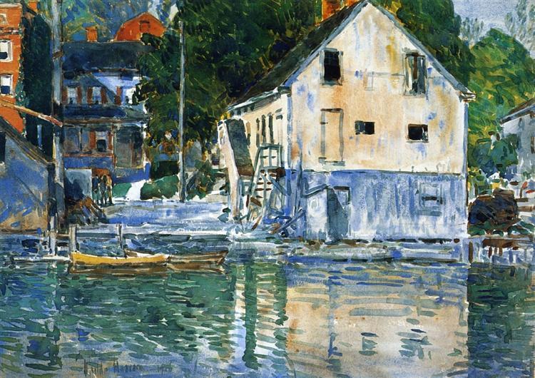 Casa Eby, Cos Cob, 1906 - Childe Hassam