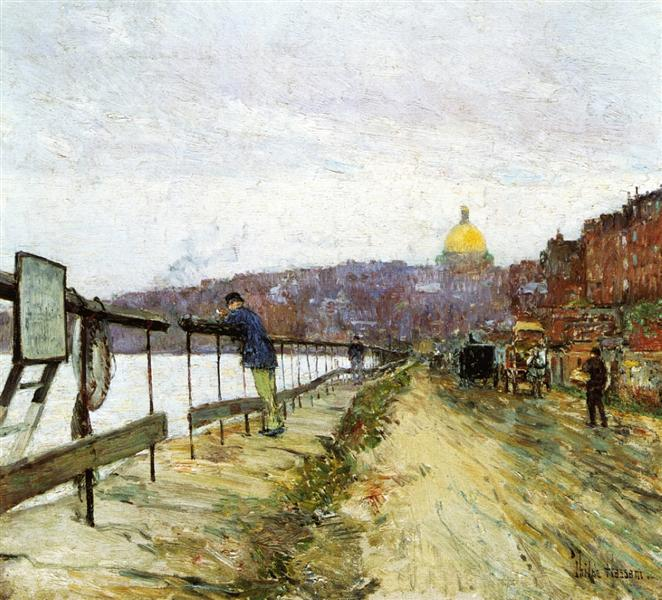 Charles River and Beacon Hill, 1890 - 1892 - Childe Hassam