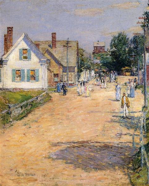 East Gloucester, End of Trolly Line, 1895 - Childe Hassam