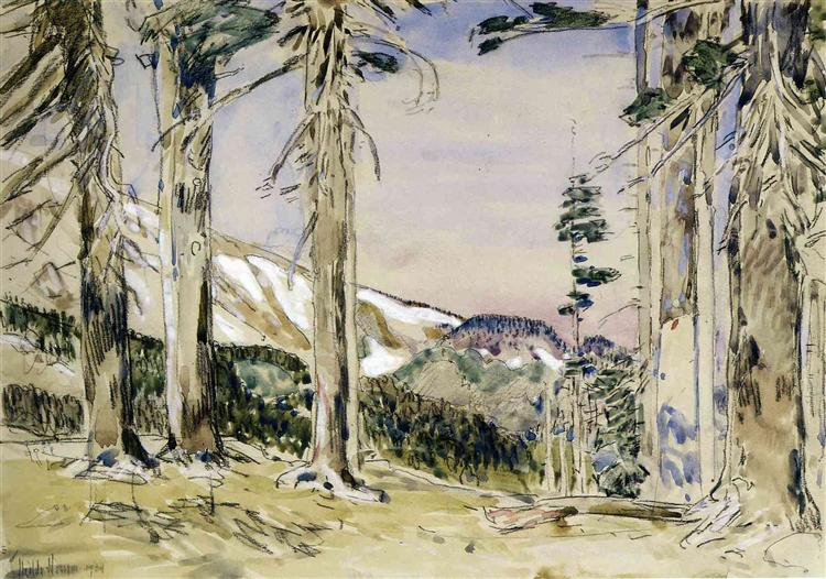 End of Timberline, Mt. Hood, 1904 - Childe Hassam
