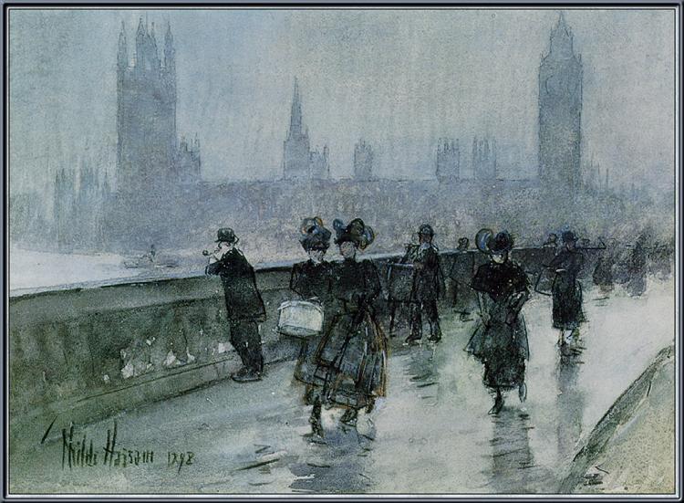 Hassam Westminster Bridge, 1898 - Childe Hassam