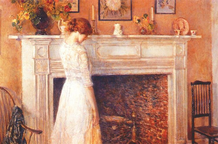 In the old house, 1914 - Childe Hassam