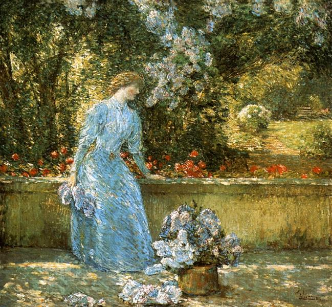Lady in the Park (aka In the Garden), 1897 - Childe Hassam