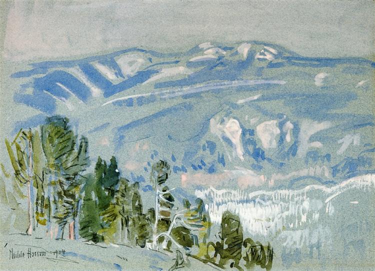 Looking towards Mount Adams from Mount Hood, 1904 - Childe Hassam