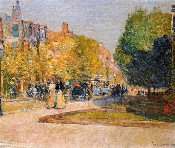 Marlborough Street, Boston, 1889 - Childe Hassam