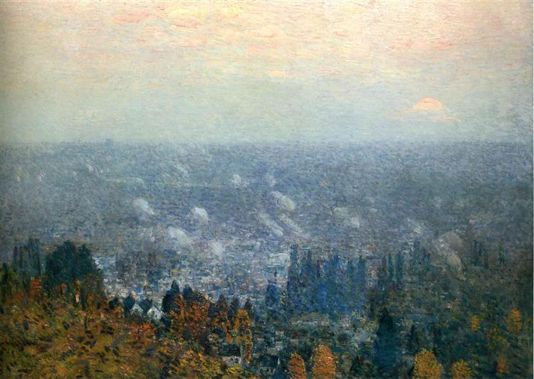Mount Hood and the Valley of the Willamette - Childe Hassam