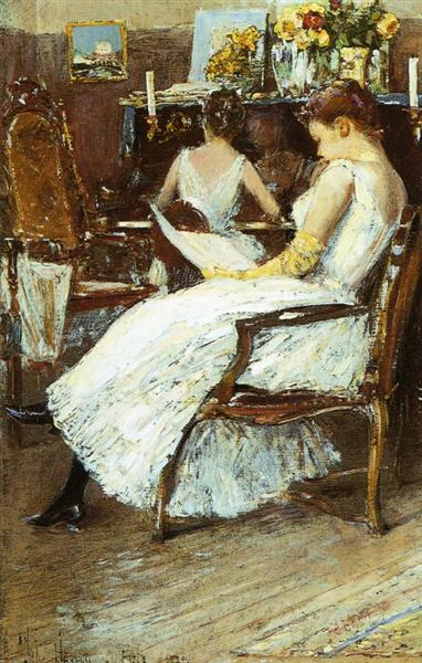 Mrs. Hassam and Her Sister, 1889 - Childe Hassam