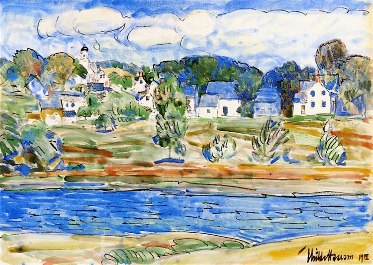 Newfields, New Hampshire, 1918 - Childe Hassam