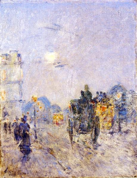 Nocturne, Hyde Park Corner, 1898 - Childe Hassam
