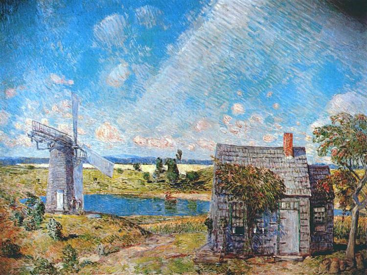 Old Long Island Landscape, 1920 - Чайльд Гассам