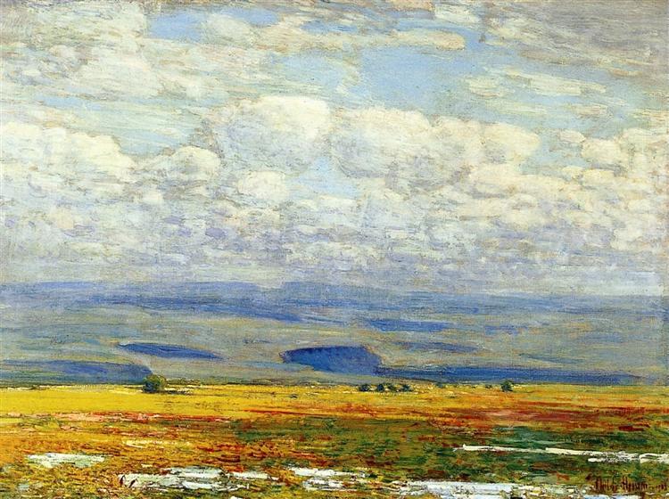 Oregon Landscape, 1908 - Childe Hassam