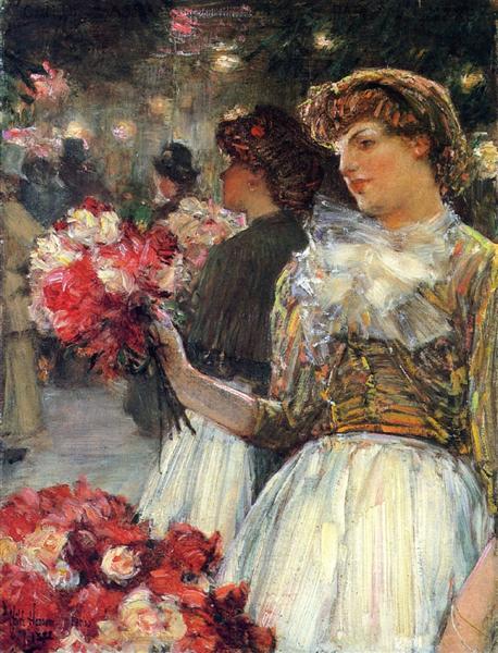 Peonies, 1888 - Childe Hassam