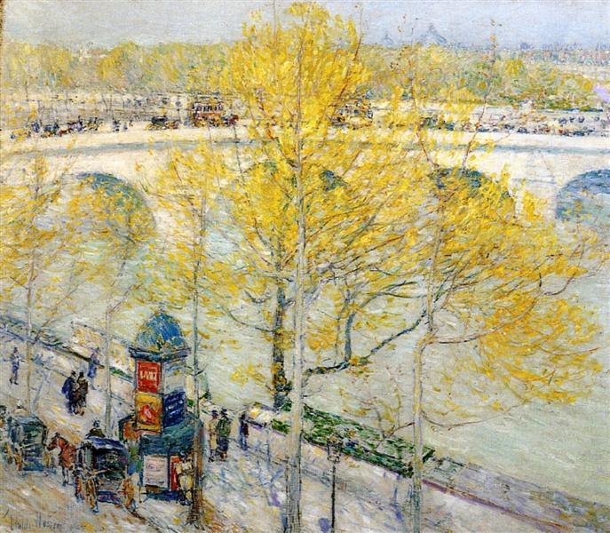 Pont Royal, Paris, 1897 - Childe Hassam