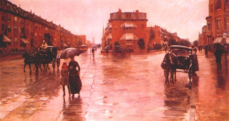 Rainy day, Boston - Childe Hassam