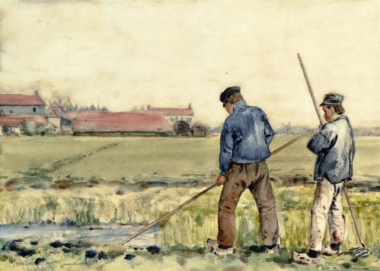 Scene in Holland, 1883 - Childe Hassam